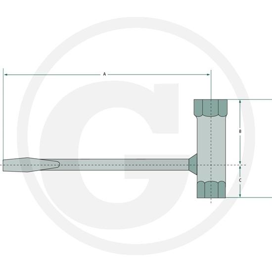 Fotografija proizvoda Kombinirani ključ 13/19 mm