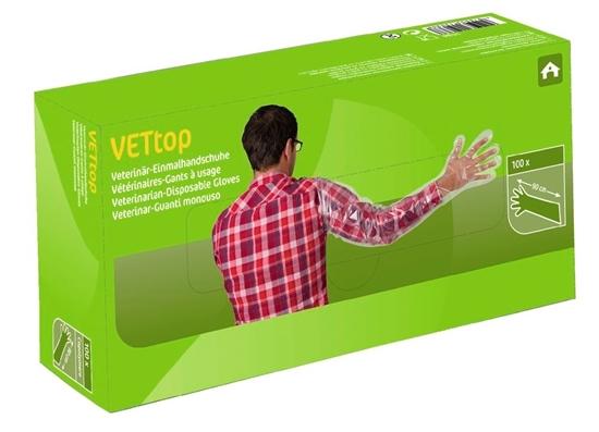 Fotografija proizvoda Veterinarske rukavice za jednokratnu uporabu VETop (pak. 100 komada)