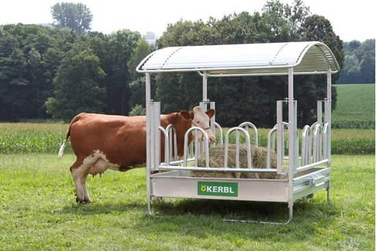Fotografija proizvoda Jasle četverokutne s palisadnom ogradom za hranjenje, 12 mjesta
