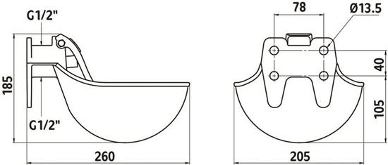 Fotografija proizvoda Pojilica od lijevanog željeza