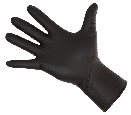 Fotografija proizvoda Rukavice za jednokratnu upotrebu crne vel. XL (50 kom)