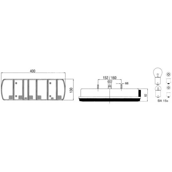 """Fotografija proizvoda Svjetlo stražnja ATEGO """"2"""", lijevo"""