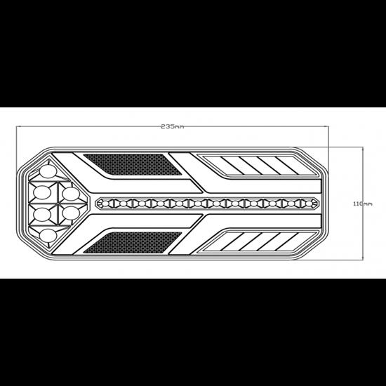 Fotografija proizvoda Kombinirano LED Stop svjetlo stražnje , lijevo