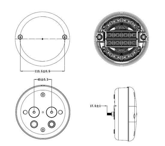 Fotografija proizvoda Stop svjetlo stražnje LED, okruglo