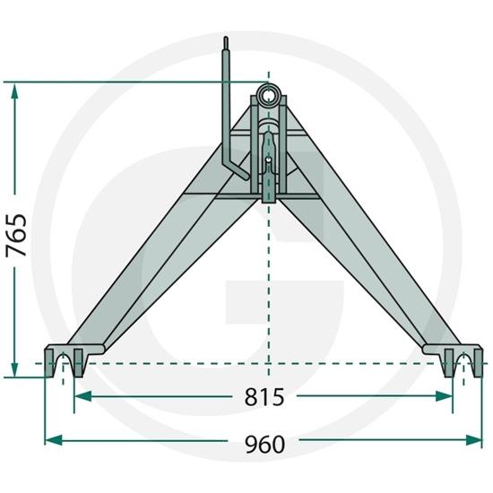 Fotografija proizvoda Prednji trokut kat.2 do 1400 kg