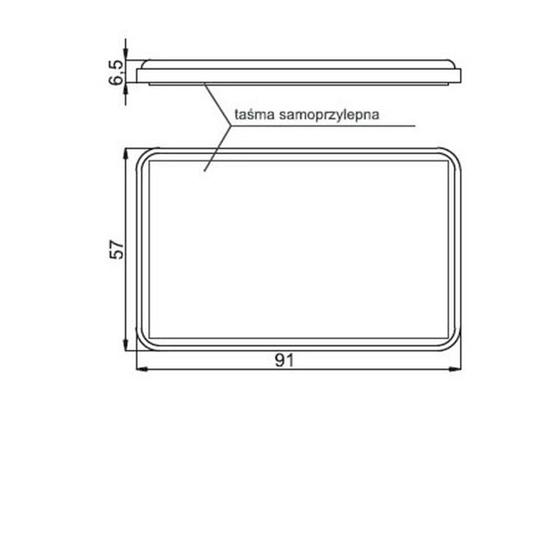 Fotografija proizvoda Katadiopter kvadratni, bijeli