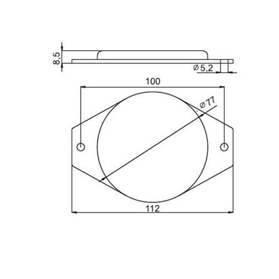 Fotografija proizvoda Katadiopter  okrugli, bijeli