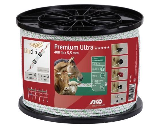 Fotografija proizvoda Premium Ultra uže za električnog pastira 400 M 5,5 mm