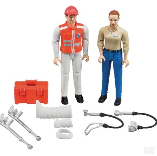 Fotografija proizvoda Igračka set figurica bolničar i pacijent, BRUDER