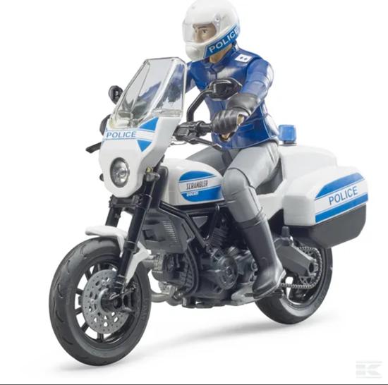 Fotografija proizvoda Igračka policijski motor Scrambler Ducati sa Policajcem, BRUDER