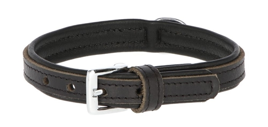 Fotografija proizvoda Ogrlica kožna Vegas 41-47 cm Crna