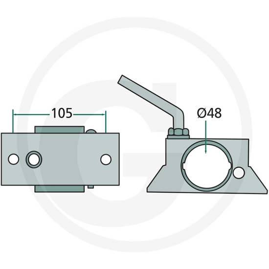 Fotografija proizvoda Stezaljka za potporni kotač