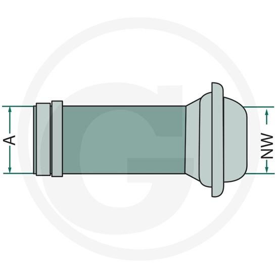 """Fotografija proizvoda Priključak sa prstenom 150mm/6 """""""