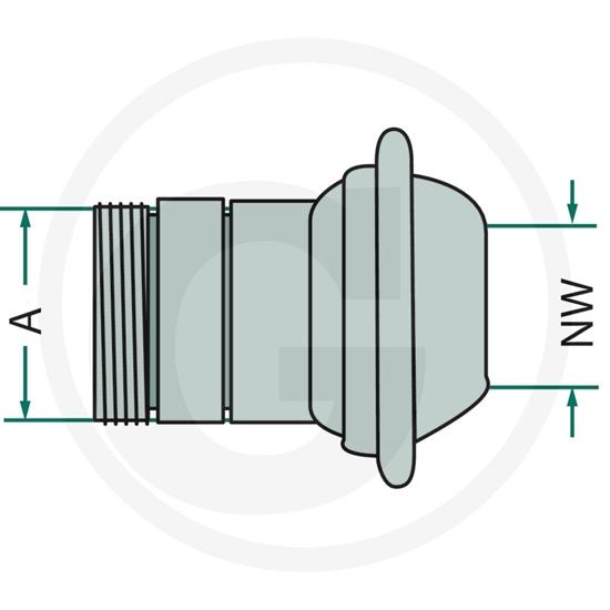 """Fotografija proizvoda Priključak sa prstenom 150mm/6"""""""