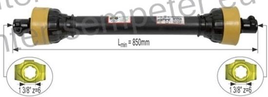 Kardan priključaka direktni 850mm