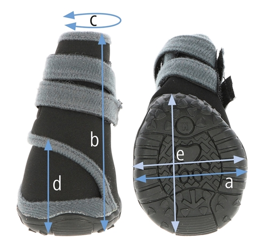 Zaštitne papuče za pse XXS