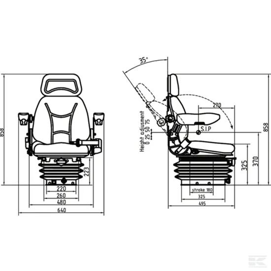 Mehaničko sjedalo KRAMP