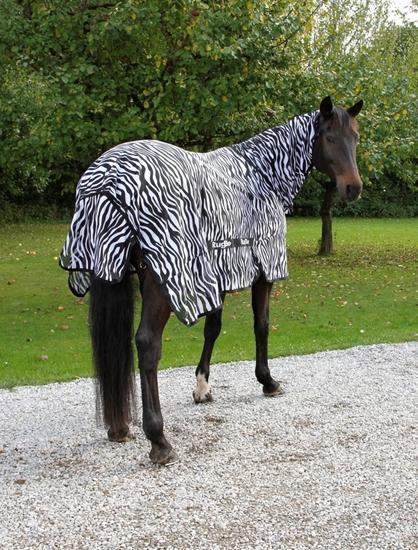 Deka za konje Zebra look 155 cm 205 cm
