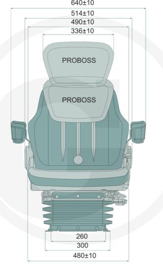 Pneumatsko sjedalo PROBOSS AS2480