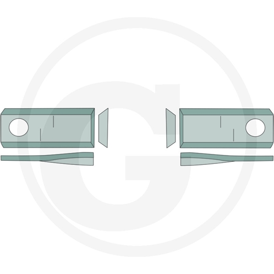 Nož roto kose desni - Claas/Kverneland/Niemeyer