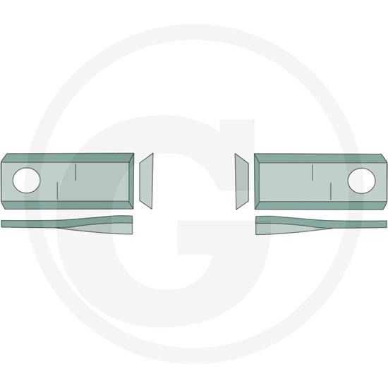 Nož roto kose lijevi - Claas/Niemeyer/Pöttinger