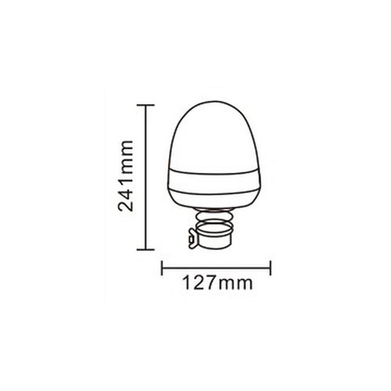 Rotacijsko nasadno gibljivo svijetlo 16xLED