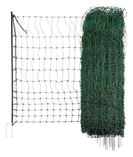 Mreža za perad PoultryNet sa jednostrukim vrhom:50m/112cm