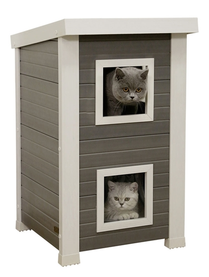 2u1 Kućica za mačke Emila 49 x 55 x 82 cm