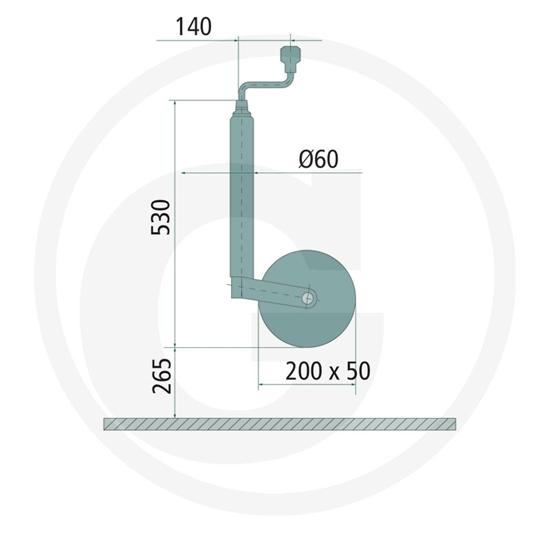 Potporni kotač nosivosti  marke AL-KO 500kg