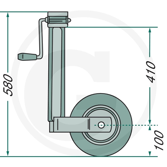 Potporni kotač nosivosti 150kg