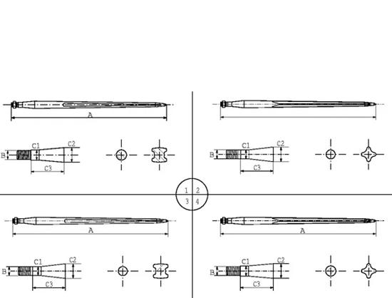Špica za bale 1100mm marke Kramp